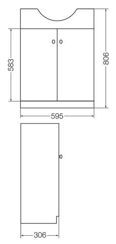 Vanitory venecia madera laqueada y6v3l ferrum 3 agujeros for Vanitory ferrum precios