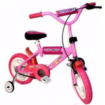 Bicicleta Rodado 12 Full Reforzada Protecciones Acolchadas