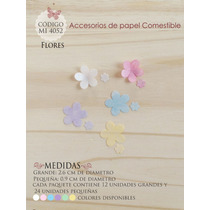 Flores En Papel Comestible Mi 4052