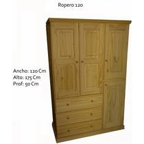 Placar Ropero Pino Macizo 3 Puertas 3 Cajones De Fabrica