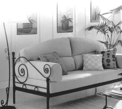 Sillon sofa cama en hierro forjado fabrica oferta otros for Precio divan cama fabrica