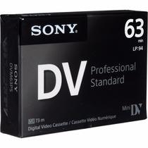 Cassette Minidv Sony Premium - Dist. Oficiales