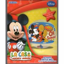 Pelota Inflable Gruesa Mickey Mouse Con Cascabeles Vulcanita