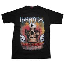 Remeras De Hermetica..heavy Metal..craneo Candente