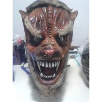 Mascara Latex Calidad Bestia Lobo Terror Joda Disfraz Hallow
