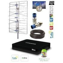 Kit Decodificador Smart Tv Box Y Antena Tv Digital Tda Hd