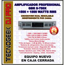 Potencia Amplificador Profesional Gbr S750x 3000 Watts