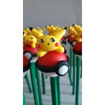 Lapices Pokemon, Minions,souvenirs Lapices Con Adorno