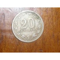Moneda 20 Centavos 1920 República Argentina Niquel Coleccion