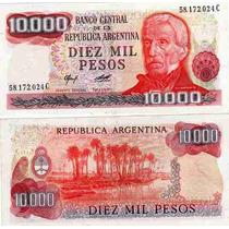 Billete 10000 Pesos Ley Serie C Bottero 2484a Excelente+