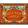 Cartel De Chapa Vintage Fileteado Buenos Aires Z325
