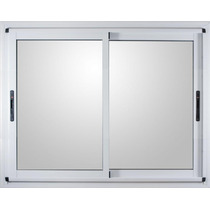 Ventana Aluminio Modena Blanca 150 X 150 Vidrio 4mm