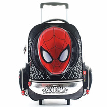 Mochila Escolar Spiderman Carro 17 Pulgadas Marvel Original