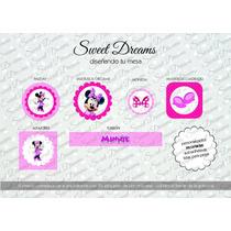 Stickers De Minnie Cortados Para Candy Bar O Mesa Dulce