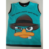 Remera Infantil De Perry Original Disney Talle 4