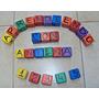 Cubos De Madera De Colores Con Letras Y Numeros Para Niños