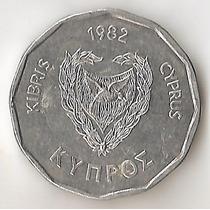 Chipre, 5 Mils, 1982. Sin Circular
