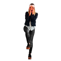 Calzas Leggins Negras Lycra Estampa Mujer Pantalon Brillosas
