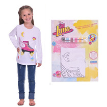 Kit Soy Luna Remera Para Pintar Disney