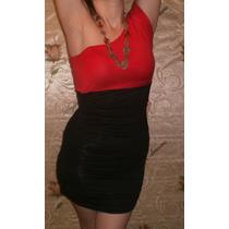 Vestido De Modal Y Lycra Con Hombro Descubierto.. + Regalo