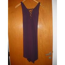 Vestido De Noche Color Uva
