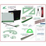 Kit Completo Tablero 50x60 Dozent Plantec Tecnico 24 Artic.