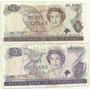 2 Billetes Nueva Zelanda 1 Y 2 Dolares Pajaros Año 1981/91
