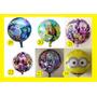 30 Globos Minions Intensamente Monster High Zombies Plantas
