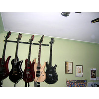 Soporte De Pared Múltiple!! Para 5 Guitarras, Bajos!!