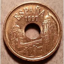 Moneda Reino De España 25 Pesetas Conmemorativa Melilla 1997