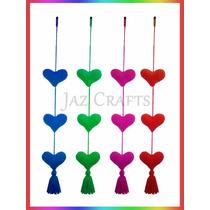 Colgante Movil Corazones Amigurumi Tejido Crochet Jaz Crafts