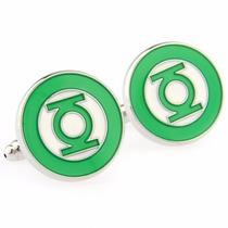 Gemelos Linterna Verde Green Lantern Retro Geek Cuff Links