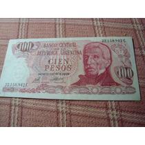 Billete De Cien Pesos Argentinos 22.158.942 C