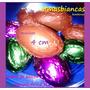 Huevo Pascua 4 Cm Mini Macizo Con/sin Mani Papel Metalizado