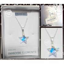 Conjunto Cadena Con Dije Swarovski Elements Estrella
