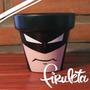 Macetas Pintadas A Mano Batman!