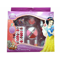 Kit De Maquillaje Y Diseño De Uñas Disney Princesas Belleza