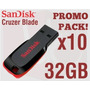 Pen Drive 32gb Sandisk Blade Cz50 Ultimo Modelo Pack 10u