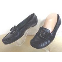 Zapatos Mocasin Husp Puppies Nº40 Cuero Negro O.mar2011