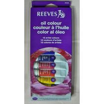 Reeves Set De 12 Oleos En Pomo