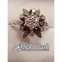 Urgente Anillo De Oro Blanco 18k Con Diamantes $12900