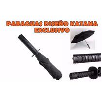 Paraguas Lluvia Diseño Katana Exclusivo Muy Original!!!