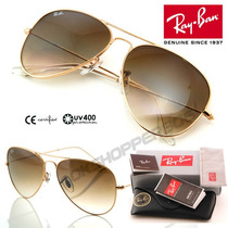 Anteojos De Sol Ray Ban Aviator Rb 3025 Made In Italy