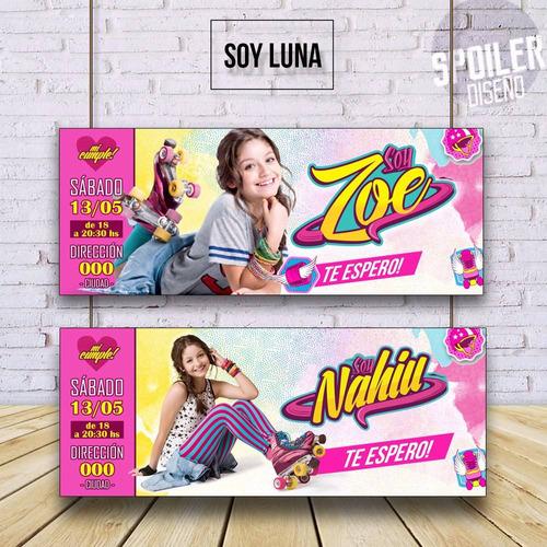Invitaciones Tarjetas De Cumpleaños Soy Luna En Venta En