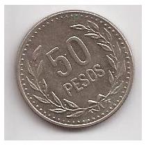 Colombia Moneda De 50 Pesos Año 1991 !!