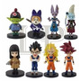 Set 8 Figuras Muñecos Dragon Ball Con Base Envio Gratis!!
