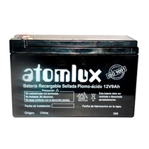 Bateria Gel Recargable Atomlux 12v 9a Heavy Ideal Ups - 1290