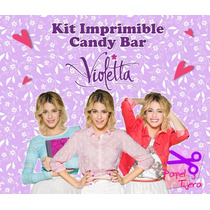 Kit Imprimible Candy Bar Violetta