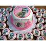 Mini Torta + 24 Cupcakes Personalizados Con Foto Comestible!