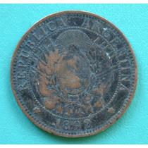 Antigua Moneda Argentina Dos Centavos Año 1892